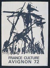 Affiche FRANCE CULTURE FESTIVAL AVIGNON 1972 - LUCIEN CLERGUE - 390