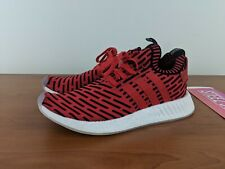 29c538e73 Adidas NMD R2 PK Men s Sneaker Boost Primeknit Core Red Black BB2910 Size  9.5