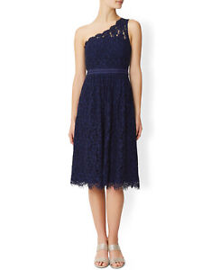 MONSOON Dress JUNIPER uk 8 Blue Lace Party Cocktail Occasion BNWT Prom