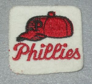 """☆ Authentic 1970's 2"""" MLB Team Patch SQUARE Sewn/Stitched Philadelphia PHILLIES"""