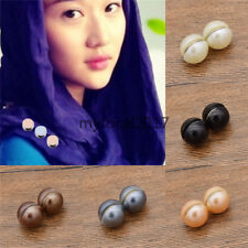 Pearl Muslim Hijab Magnet Pin Buckle Headscarf Clips Shawl Women Jewelery New 2x