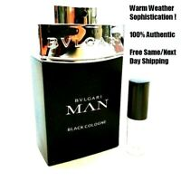 Bvlgari Man Black Cologne - 5ml or 10ml Decant- 5ml/10ml Glass Atomizer- SAMPLE