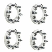 4pcs 1'' 6 Lug Hubcentric Wheel Spacers Adapters 6x5.5 to 6x5.5 for Chevy GMC