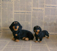 Realistic Simulation Dog Toy Dachshund Plush Toy Doll Animal UK Stuffed H9B5