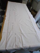 Grand drap en lin ancien avec retour 282x224cms