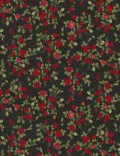 Mini Rosen Schwarz Patchworkstoffe Stoffe Blumen Patchwork Baumwolle Rosenstoffe