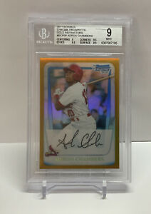 2012 Bowman Chrome Prospects Adron Chambers BGS 9 Mint 21/50
