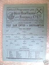 1947 League Division II WEST HAM UNITED v SOUTHAMPTON, 12th April, Rare
