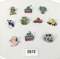 Disney Lot of 10 Hidden Mickey Cast Lanyard Trading Trader Pins OLDER Rarer 2612