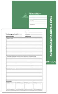 Berichtsheft Ausbildungsnachweis wöchentlich/monatlich alle Berufe 56 Seiten