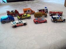 Lot of 10 Hotwheels Matchbox RC2  Emergency Police Fire Rescue Diecast Vehicles