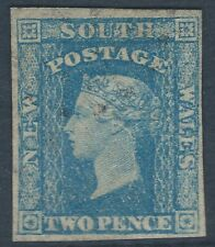 NSW 1856 'Small diadem' 2d blue. Mint, hinged, n/g.