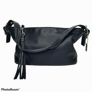 Coach East West Legacy Duffle Tassel Black Leather Purse Bag G04S-1417 Handbag
