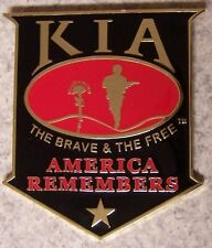 Military Plaque Military Killed in Action KIA NEW wall or shadow box mount