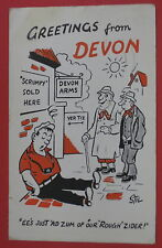 VTG GREETINGS FROM DEVON POSTCARD-ENGLAND-EE'S JUST AD ZUM OF OUR ROUGH ZIDER