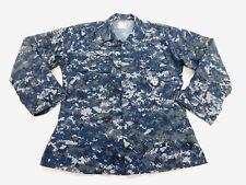 USN US Navy Blue Digital Camo NWU Working Uniform Blouse Coat Top 35 Short