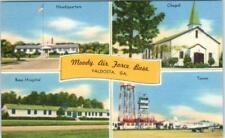 VALDOSTA, Georgia  GA   MOODY AIR FORCE BASE  ca 1940s Linen    Postcard