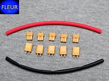 5 Pair XT30 Style RC Connectors For  Bugs 3 with Heat Shrink Tubing