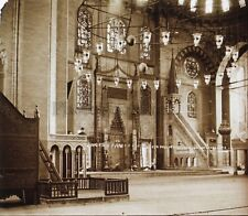 Constantinople Mosquée Turquie Plaque de verre C12 Stereo Positive Vintage