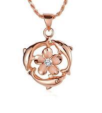 chapado en oro rosa plata 925 HAWÁI 9mm Plumeria flor 3 Brillante