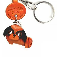 Japanese Chin Handmade 3D Leather Dog Key chain ring *Vanca* Made in Japan#56737