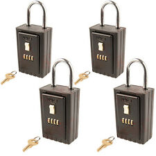 4 x Brand New NuSet Key Storage 4 Digit Numeric Combo Lock Boxes