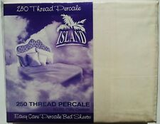 NeW ISLAND KING BED SHEET SET CREAM BEIGE FITTED + FLAT SHEETS + 2 PILLOW CASES