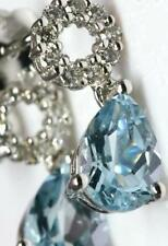Natural Aquamarine Drop/Dangle Fine Earrings