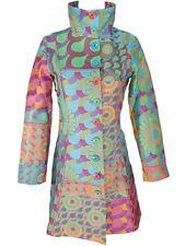 NWT NEW DESIGUAL Coat Jacket Long 44 XXLARGE LINING Embroidered Flowers *RARE