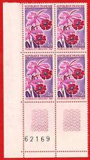 1967-Bloc de 4 Timbres france neuf**Floralies D'Orléans-Orchidée-Stamp-Yv.1528
