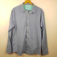 Scotch & Soda Mens Shirt Size XL Blue Check French Cuffs