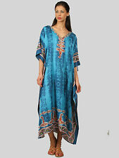 Kushi Free Size Kaftan Tunic Holiday Dress Beach Cover up fits 14,16,18,20,22,24