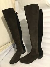 Clarks genuine leather size 7.5 grey 50/50 ride womens ladies riding boots shoes
