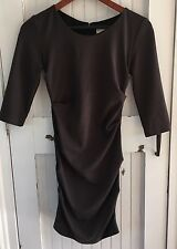 Artelier Nicole Miller Christina Ponte Dress Black 3/4 Sleeves Career Size P