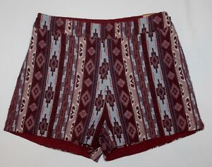HOLLISTER Knit Tapestry Shorts BOHO Southwest Sz 3 S NWT MSRP $49