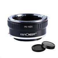 K&F Concept Objektivadapter für Pentax PK K Mount auf Sony NEX E  A7III A7RIII