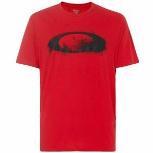 Oakley Overspray T-Shirt Red Line Streetwear 457826-465 Small