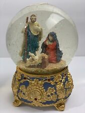 Vintage The San Francisco Music Box Company Water Globe Nativity Holy Night