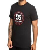 DC SHOES MENS T SHIRT.NEW PHENOMOM BLACK SHORT SLEEVED CREW COTTON TOP 9S 7 KVJO