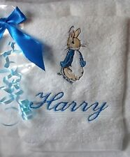 PERSONALISED BEATRIX POTTER TOWEL SET PETER RABBIT GIFT WRAPPED