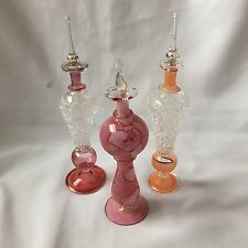 Vintage Ornate Art Glass Perfume Bottles Collectable