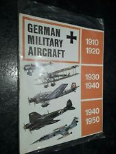 German Military Aircraft Poster 1977 Swift Publications Vgc Plane Wall Chart Old