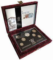 1996 UK Silver Proof Anniversary Coin Collection + COA Royal Mint