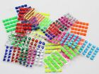 Assorted Colors and Shapes Self Adhesive Pack - Over 700 PCS