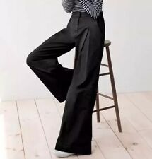 JCrew 1970's Style Ultra Wide Leg Chino Pant in Black NWT $118 00 f8307 NEW