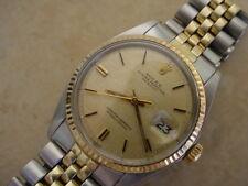 Rolex Datejust 1601 14K/SS Champagne Linen Dial, 1971 Mfg.14K/SS Bracelet.