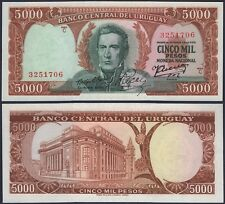 URUGUAY P50****5000 PESOS***ND 1967***UNC GEM***SEE FULL DESCRIPTION