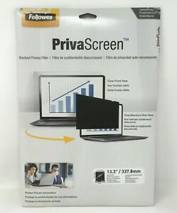 """Fellowes 13.3"""" PrivaScreen Blackout Privacy Filter 16:10 4814301 *NOB*"""