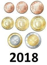 MALTA - KMS 2018 -  Set 1CT / 2EUROS - 3.88€  (8 MÜNZEN SET)  UNCIRCULATED