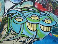 PAINTING STREET GRAFFITI MUSIC NOTE COOL ART PRINT POSTER MP5463A